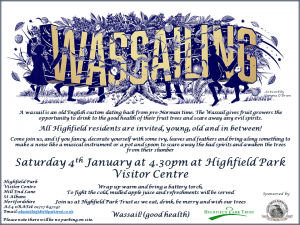 Wassailing 2020 @ Highfield Park Visitor Centre
