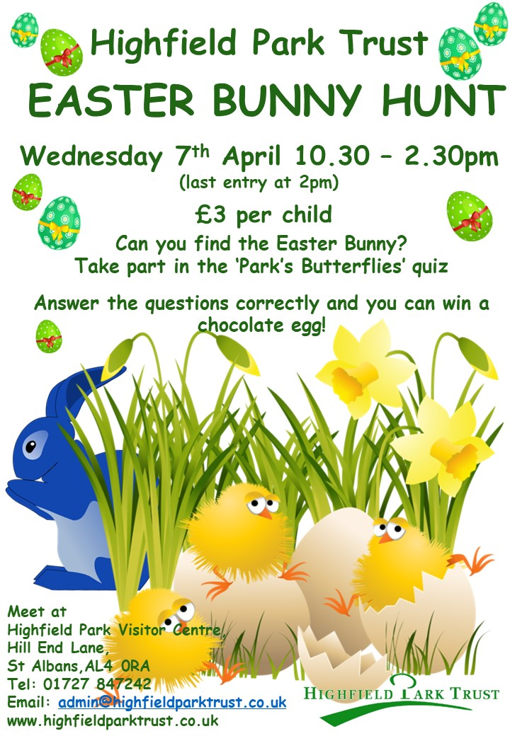 Easter Bunny Hunt 2021 @ Highfield Park Visitor Centre