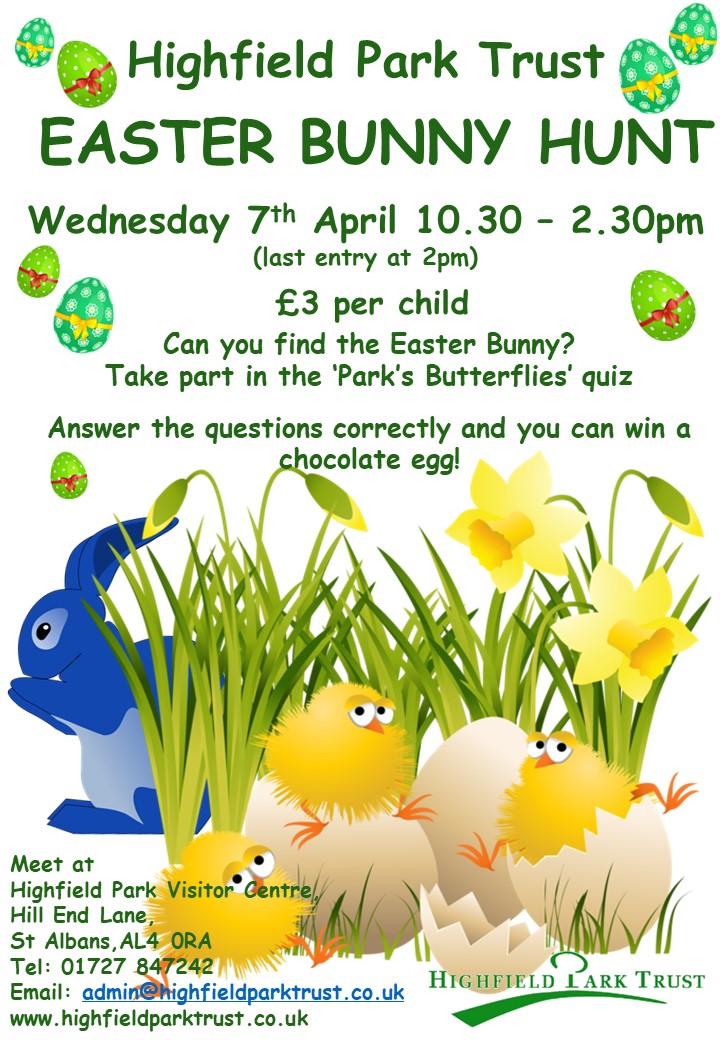 Easter Bunny Hunt 2021 @ Highfield Park Visitor Centre